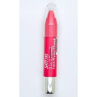 Saffron 3 in1 Eye/Lip/Cheek Pencil Pink