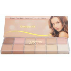Saffron Cream Foundation Contour Kit