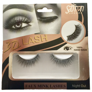 Saffron 3D Faux Mink Eyelashes NIGHT OUT