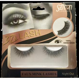 Saffron 3D Faux Mink Eyelashes NIGHT OUT