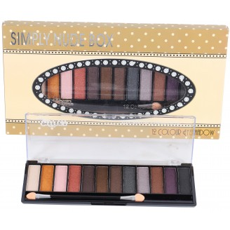 Saffron 12 Pcs Eye Shadow   NUDE BOX