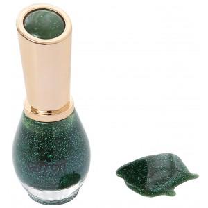Saffron Nail Polish   Green Glitter 66