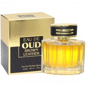 Saffron Eau de Oud Brown Leather   Unisex Eau de Parfum 100ml