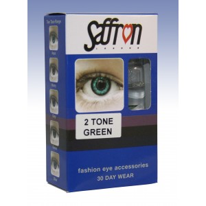 Saffron Eye Lenses 2 Tone Green