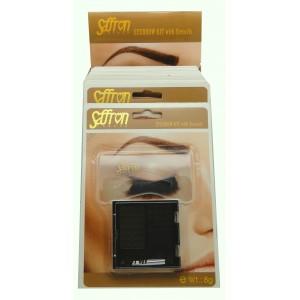Saffron Eye Brow Powder with Stencils 1 Grey/Brown & Black Brown