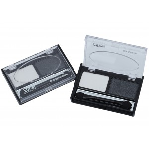 Saffron Black/White Duo Eyeshadow Shimmer Colour B