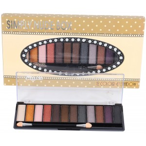 Saffron 12 Pcs Eye Shadow   NUDE BOX