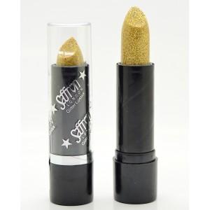 Saffron Glitter Lipstick   Glitter Gold