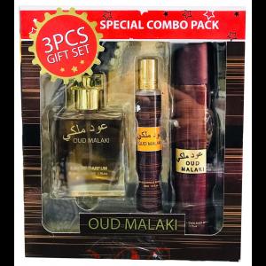 OUD MALAKI 3 Pcs Perfume/Roll-on/Body Spray Gift Set