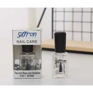 Saffron Nail Care 3in1 Shine Top Coat/Base Coat/Hardener