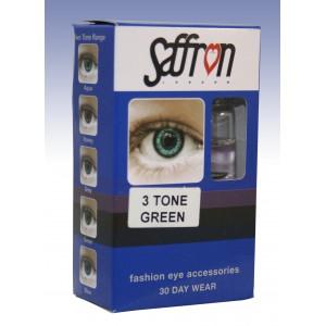 Saffron Eye Lenses 3 Tone Green