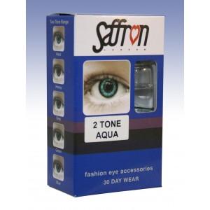 Saffron Eye Lenses 2 Tone Aqua