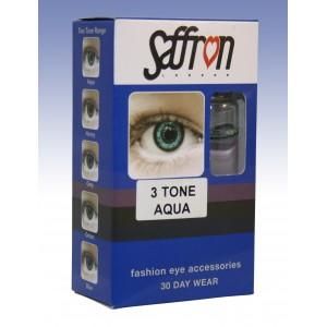 Saffron Eye Lenses 3 Tone Aqua