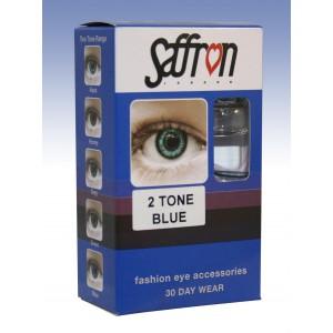 Saffron Eye Lenses 2 Tone Blue