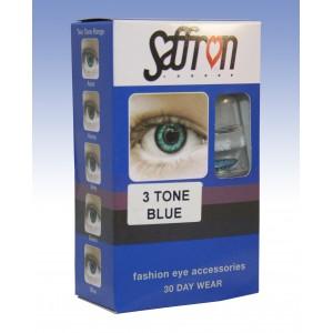 Saffron Eye Lenses 3 Tone Blue