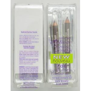 Wet n Wild Eyebrow/ Eyeliner Pencils Duo Pack 706 Dark Brown